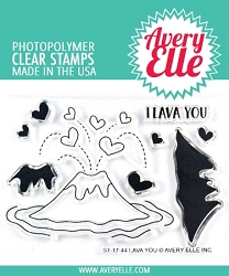 Avery Elle - Clear Stamps - Lava You