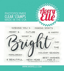 Avery Elle - Clear Stamps - Simply Said: Bright