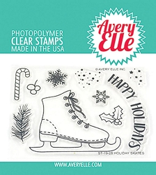 Avery Elle - Clear Stamps - Holiday Skates