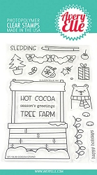 Avery Elle - Clear Stamps - Cocoa Stand