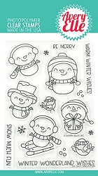 Avery Elle - Clear Stamps - Snow Fun
