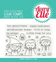 Avery Elle - Clear Stamps - Peek-A-Boo Pals: Spooktacular