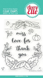 Avery Elle - Clear Stamps - Fall Foliage