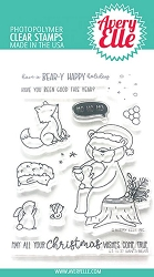 Avery Elle - Clear Stamps - Santa Bear