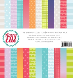 Avery Elle - 6x6 Paper Pad - The Spring Collection