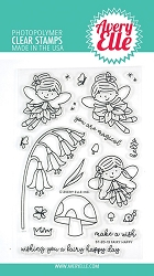 Avery Elle - Clear Stamps - Fairy Happy