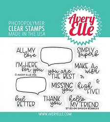 Avery Elle - Clear Stamps - Speech Bubbles