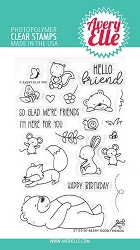 Avery Elle - Clear Stamps - Beary Good Friends