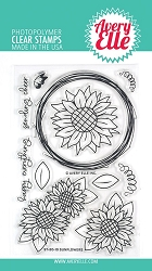 Avery Elle - Clear Stamps - Sunflowers