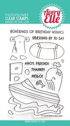 Avery Elle - Clear Stamps - Peek-A-Boo Boat