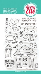 Avery Elle - Clear Stamps - Dog-gone
