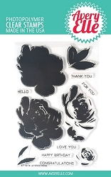 Avery Elle - Clear Stamps - Layered Rose