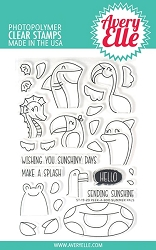 Avery Elle - Clear Stamps - Peek-A-Boo Summer