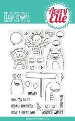 Avery Elle - Clear Stamps - Peek-A-Boo Scary