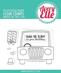 Avery Elle - Clear Stamps - Peek-A-Boo Car
