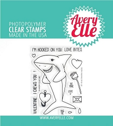 Avery Elle - Clear Stamps - Shark Hugs
