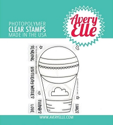 Avery Elle - Clear Stamps - Peek-A-Boo Balloon