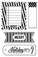 Hero Arts Clear Stamp - Basic Grey - Aspen Frost - Merry