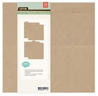 Basic Grey - Basics - Kraft Album - 8x8 Ring Binder