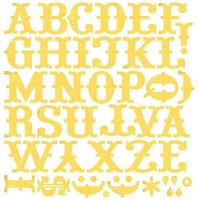 Basic Grey - Urban Prairie - Monogram Alphabet Stickers