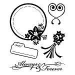 Basic Grey Cappella - Bitsy Clear Stamp - Forever