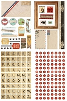 Basic Grey - Clippings Collection - Chipboard Stickers