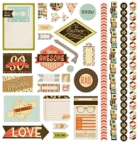 Basic Grey - Hipster Collection - 12x12 Element Stickers