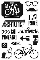 Hero Arts/Basic Grey - Hipster Collection Clear Stamp - You Are Hip