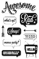 Hero Arts/Basic Grey - Hipster Collection Clear Stamp - Awesome