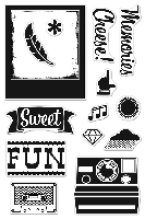 Hero Arts/Basic Grey - Hipster Collection Clear Stamp - Cheese !