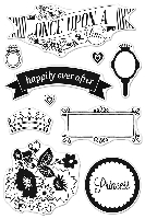Hero Arts/Basic Grey Clear Stamp - Knee Highs & Bow Ties Collection - Once Upon A Time :)