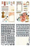 Basic Grey - Lucille Collection - Chipboard Stickers
