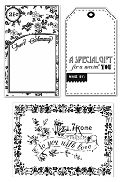 Hero Arts Clear Stamp - Basic Grey Lucille - Fancy Schmancy