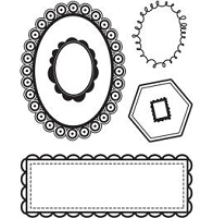 *Basic Grey Max & Whiskers - Bitsy Clear Stamp - Frame It
