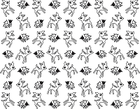 Hero Arts/Basic Grey Cling Rubber Stamp - Mint Julep Collection - Tiny Deer Background