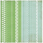 Basic Grey Nook and Pantry - Doilies - Green/Blue (Die Cut Lace Paper)