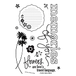 *Basic Grey Origins - Clear Stamp - Tranquil