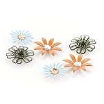 Basic Grey-Picadilly-Metal Flower Stickers