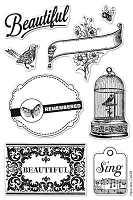 Hero Arts Clear Stamp - Basic Grey Serenade Collection - Beautiful