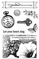 Hero Arts Clear Stamp - Basic Grey Serenade Collection - Pocket Watch