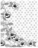 Hero Arts Cling Stamp -Basic Grey What's Up - Floral Dot Background