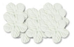 Bazzill-Paper Flowers-Flowers & Leaves-Tropical White