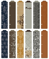Becky Higgins - Project Life  - 12/Pk Designer Dividers - Cinnamon Edition