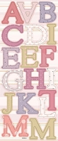Best Creation - Chipboard Shapes - Pastel Dot Alphabet