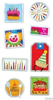 Best Creation - Metal Tag Stickers - Birthday Clown Tags