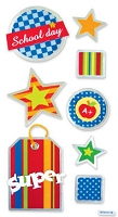 Best Creation - Metal Tag Stickers - School Super Tags