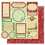 Best Creations- Merry Christmas-Glittered Paper-Greeting Tags