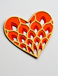 Birch Press - Cutting Die - Petal Heart Layer Set