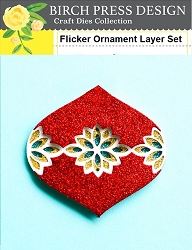 Birch Press - Cutting Die - Flicker Ornament Layer Set