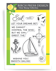 Birch Press - Clear Stamp - Let Your Dreams Sail